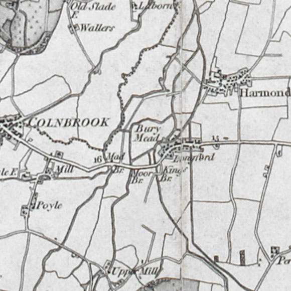 Ordnance Survey First Series map for Longford, Heathrow