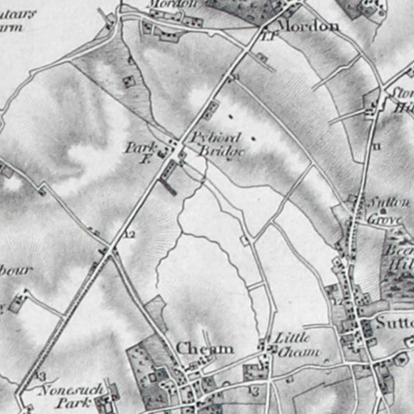 Ordnance Survey First Series map for North Cheam, Sutton