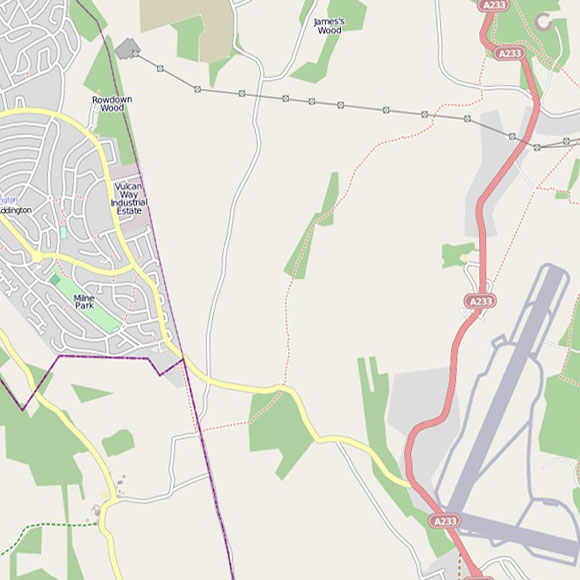 London map OpenStreetMap for New Addington, Biggin Hill