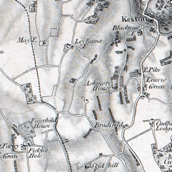 Ordnance Survey First Series map for New Addington, Biggin Hill