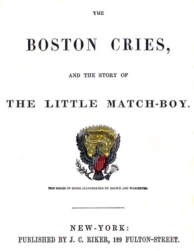 Boston Cries title page