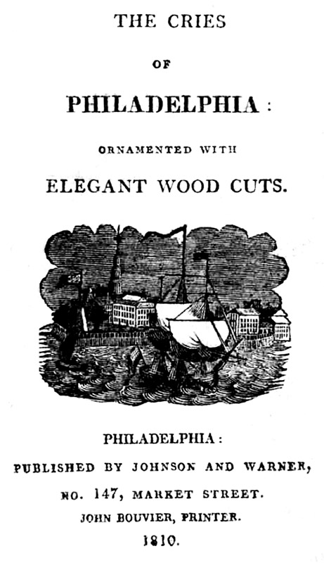 Cries of Philadelphia title page