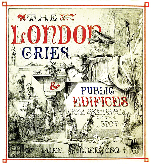 Inside cover of London Cries & Public Edifices
