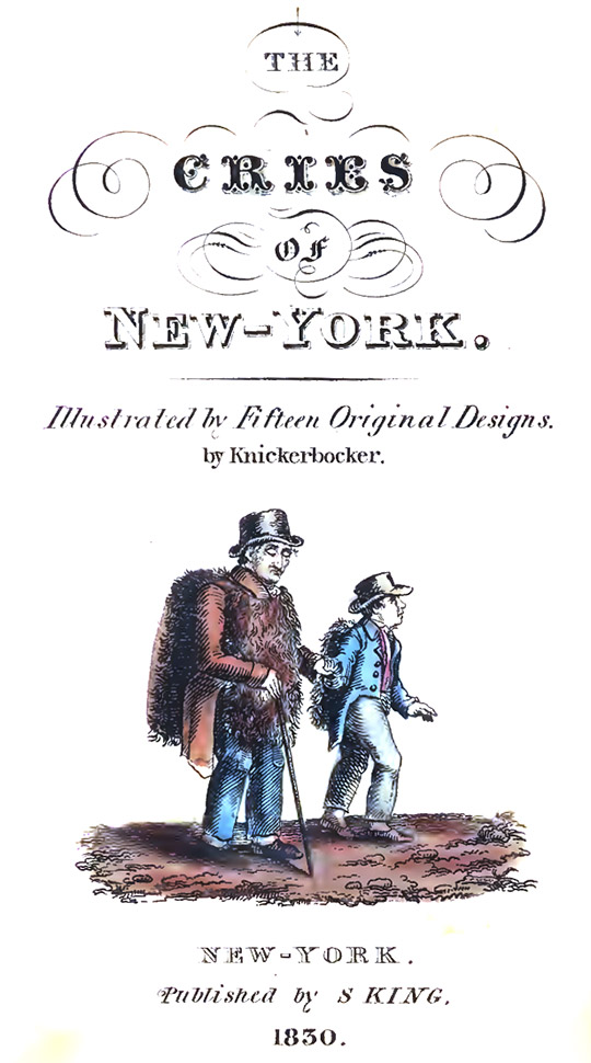 The Cries of New York frontispiece